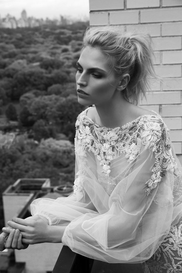 Embellished_Cape_Long_Sheer_Sleeves_Inbal_Dror_2016