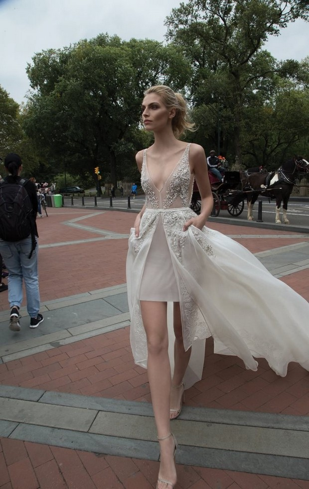 Mini_Wedding_Dress_Sheer_Train_Overlay_Skirt_Inbal_Dror_2016