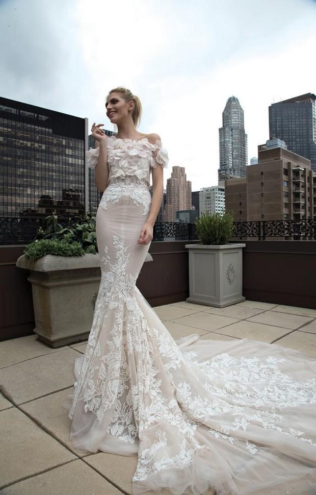 Petal_Embellished_Top_Cover_Up_Wedding_Dress_Inbal_Dror