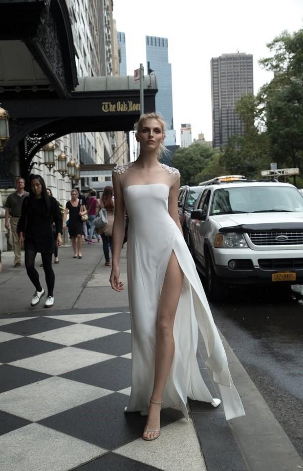 Simple_Sheath_Wedding_Dress_Embellished_Shoulders_Inbal_Dror