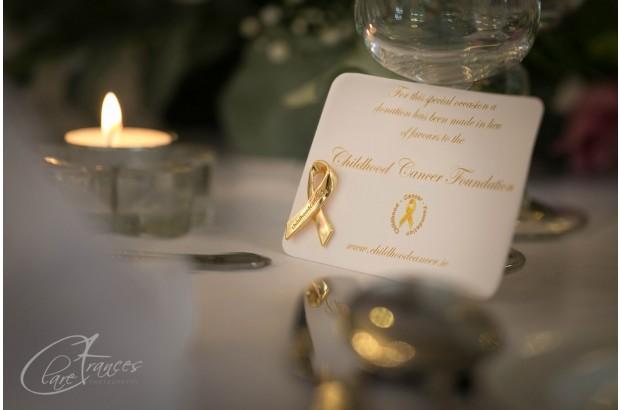 Childhood Cancer Foundation Wedding Favours