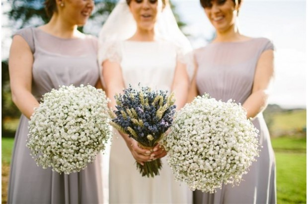 Babys Breath Winter Wedding Bouquets by Bella Florists