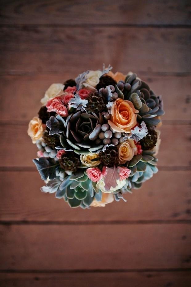 succulent-wedding-bouquet-winter-wedding-aroominbloom
