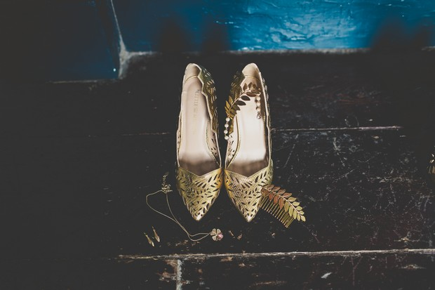 10_Gold_bridesmaids_accessories_laser_cut_shoes