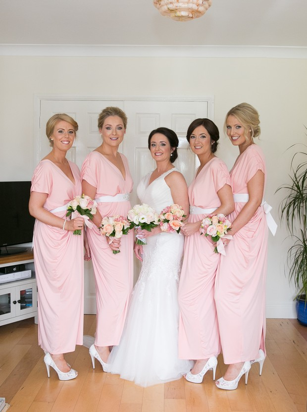 23_peach_bridesmaid_dresses_jersey_ruched