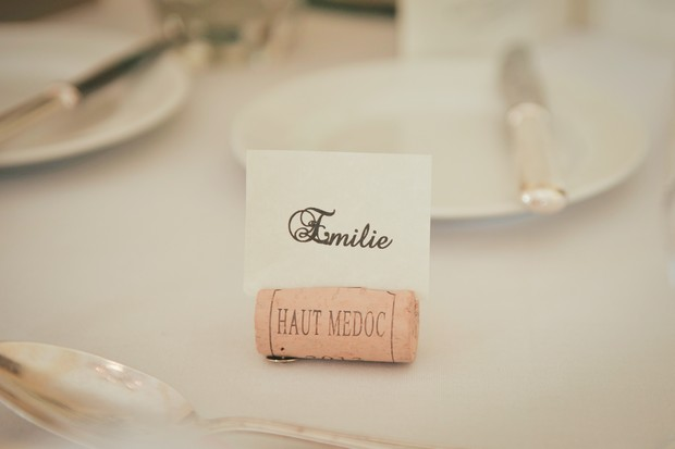 8_French_Wedding_theme_Wedding_cork_table_name_holders