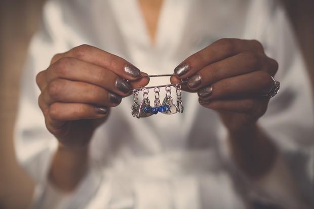 8_Unusual_Something_Blue_Charm_Pin_on_wedding_Dress