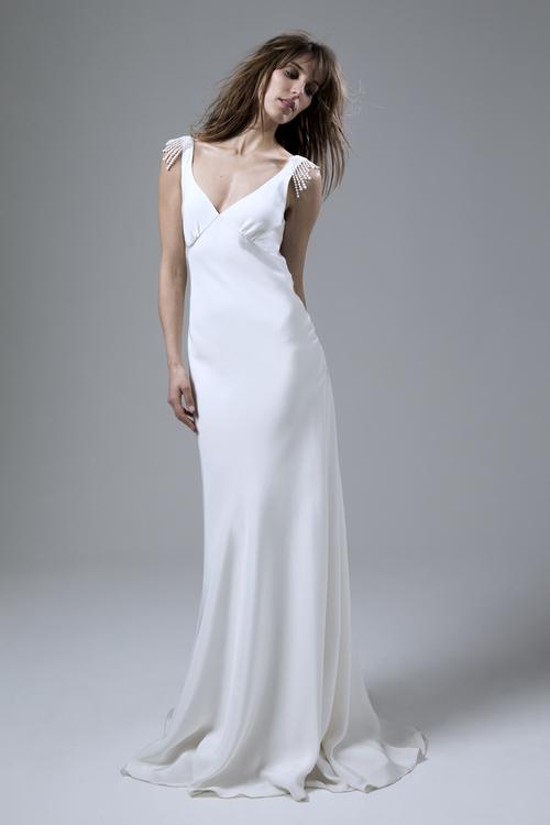 365b814be276 Embroidered tulle Susie skirt.  Halfpenny_London_2016_Vintage_Silk_Wedding_Dress_Bias_Backless_Vera. Vintage  ...