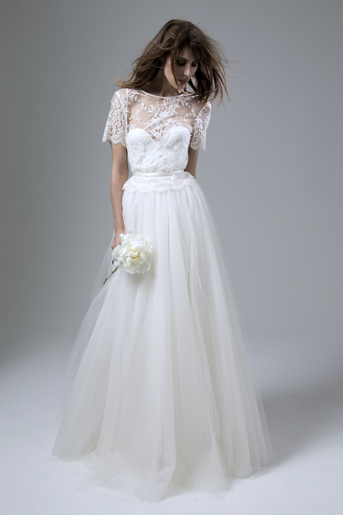 Halfpenny_London_2016_Wedding_Dress_Separates_Iris_Skirt_Annabel_Lace_Tee_Cover_Up