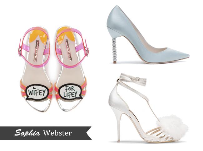 Your guide to designer wedding shoes weddingsonline for Sophia webster wedding shoes