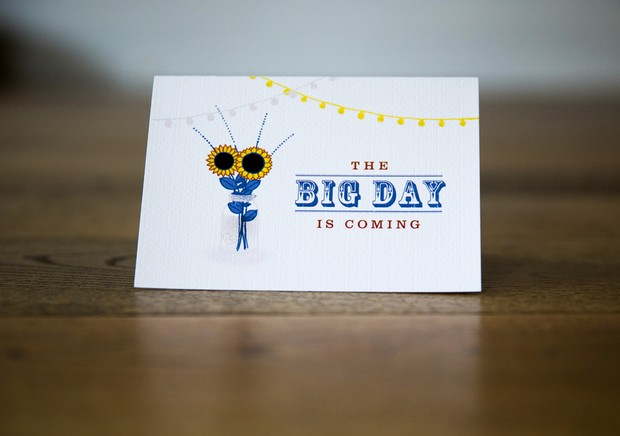 1-Sunflower-themed-summer-wedding-card