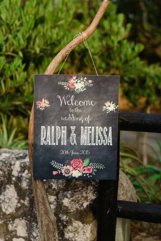 36-Dream-Destination-Wedding-Algarve-Portugal-Chalkboard-Welcome-Sign-Design
