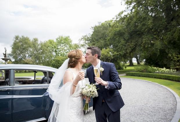 37-Ballymagarvey-Village-Wedding-Entrance-Real-Bride-Groom (2)