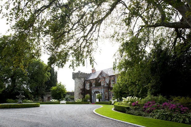 37-Ballymagarvey-Village-Wedding-Entrance-Real-Bride-Groom (3)