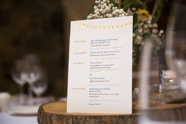 47-Wedding-menu-summer-stationery-bunting-yellow
