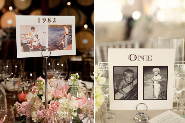 childhood-photos-table-names-wedding
