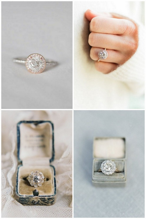 engagement ring trends 2016 classic halo - Prettiest Wedding Rings