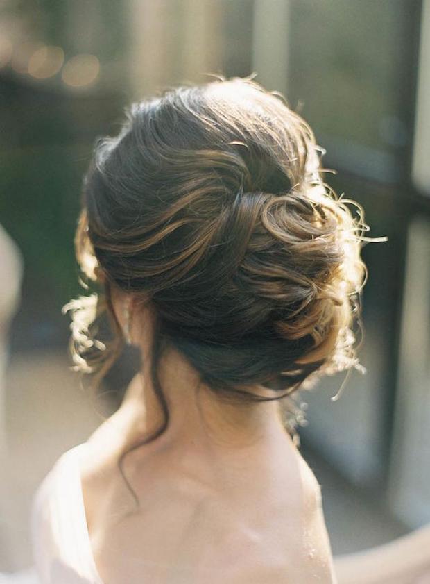 romantic-chignon-bridal-updo-wedding-hairstyles