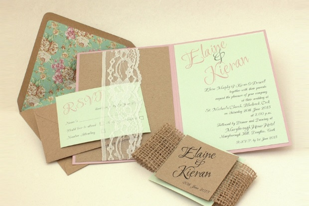 rustic_brown_lace_kraft_Wedding_invitations_exclusivelyyours