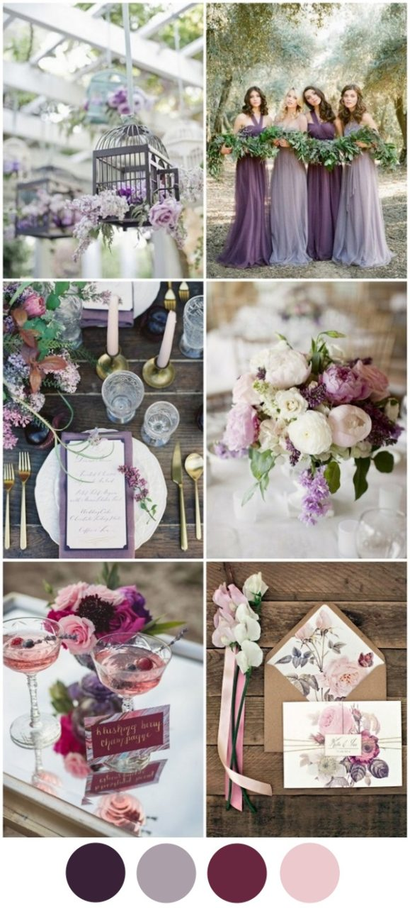 Top Wedding Colours 2016 Purple Berry Color Palette