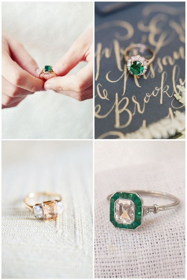 wedding-trends-2016-colour-stone-engagement-rings