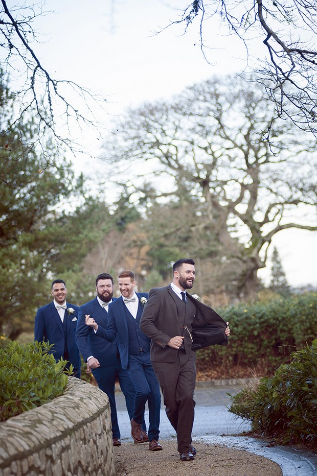 14-Fun-Stylish-Groom-Different-Suit-Groomsman-Brown-Navy