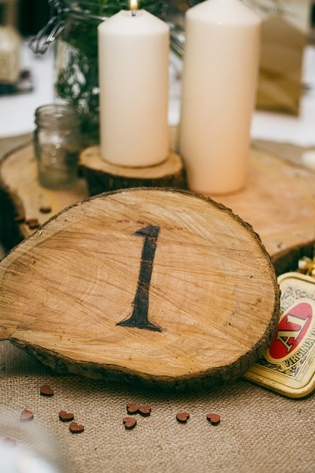 33-Wood-Log-Table-Number-Rustic-Wedding-Theme