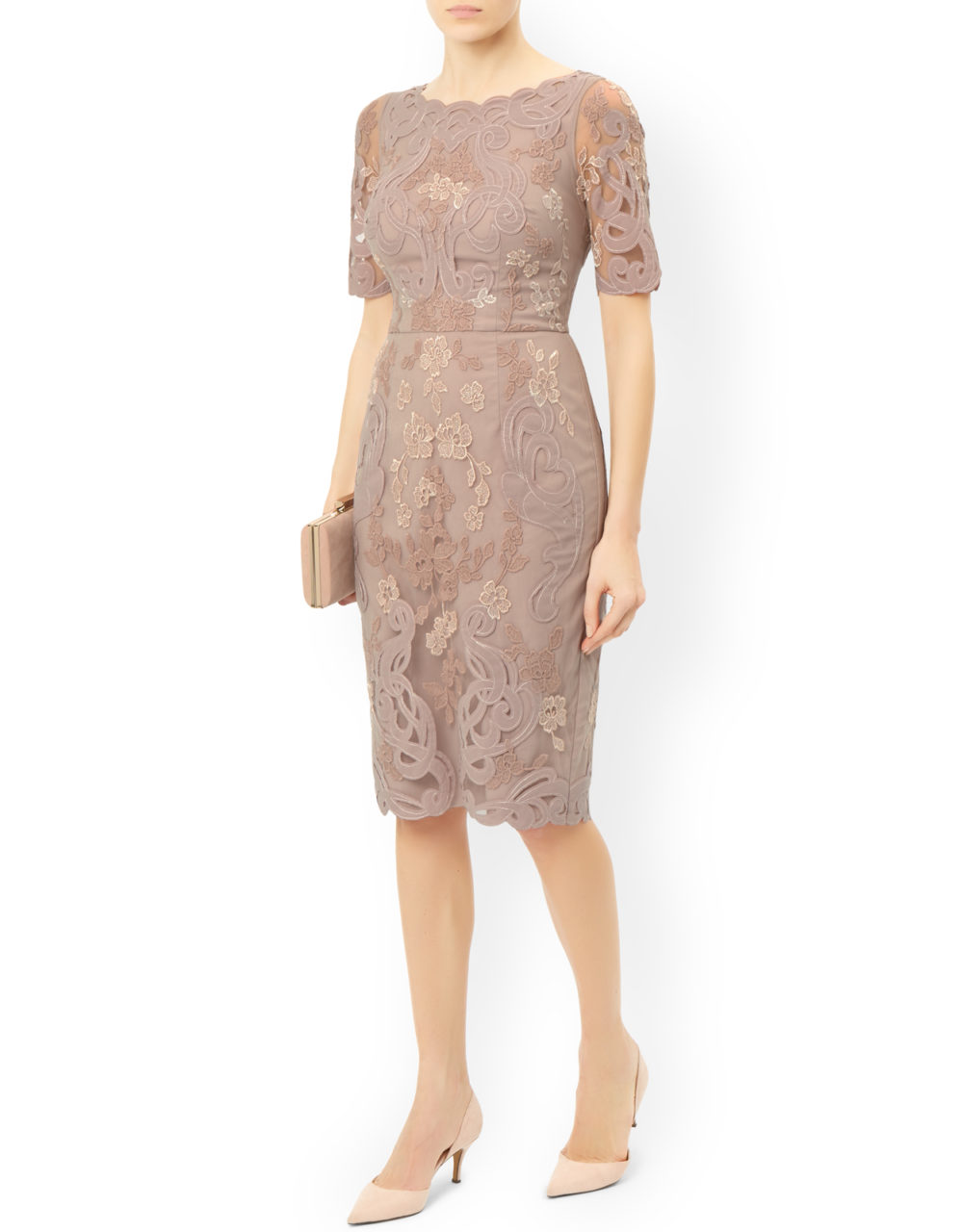 Neutral-tone-Mother-ofthe-Bride-Dress-Stylish-Monsoon