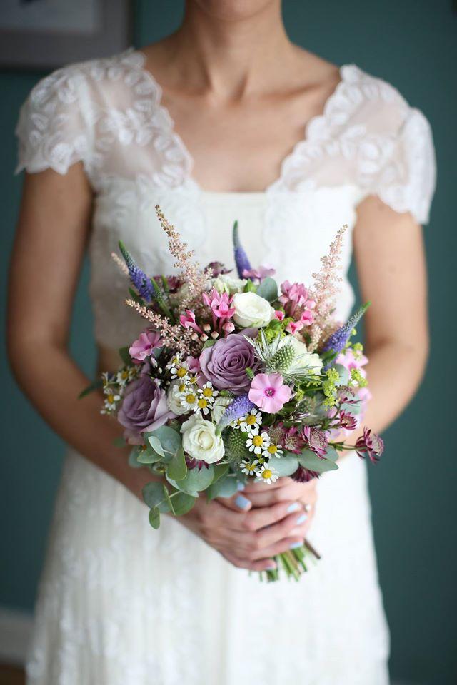 Spring-Wedding-Bouquet-Purple-Pink-Pastel-TheFlowerBox