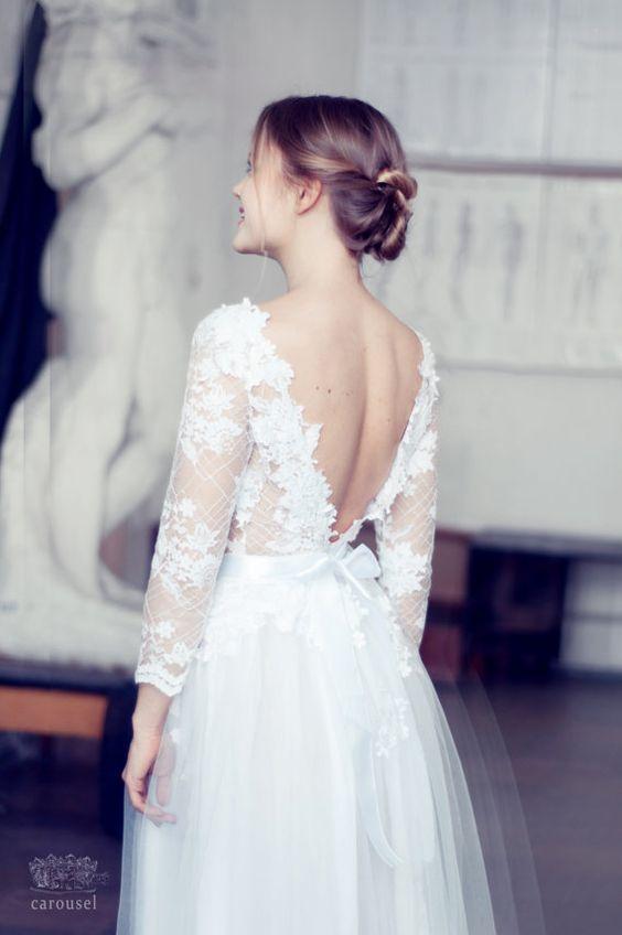 Spring-Wedding-Dresses-floral-applique-low-back-Etsy