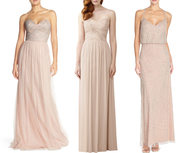 Blush Wedding Dress Dublin : Glamorous embellished bridesmaid dresses weddings