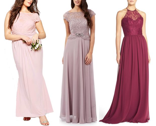 lace-bodice-bridesmaid-dresses-pinks