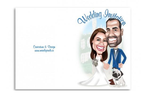mixels-pixels-personalised-carictaure-wedding-invitation