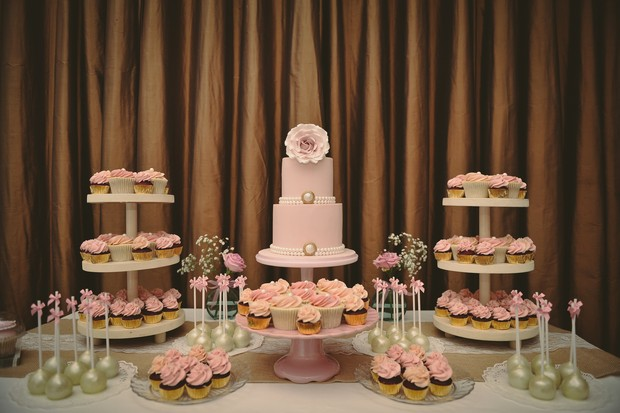 romantic-pink-pearl-white-wedding-dessert-table-cake-pops-2