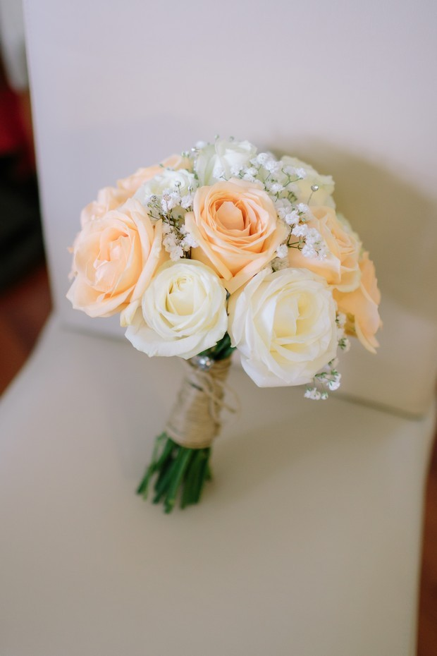20-Orange-Cream-Rose-Wedding-Bouquet-Babys-Breath