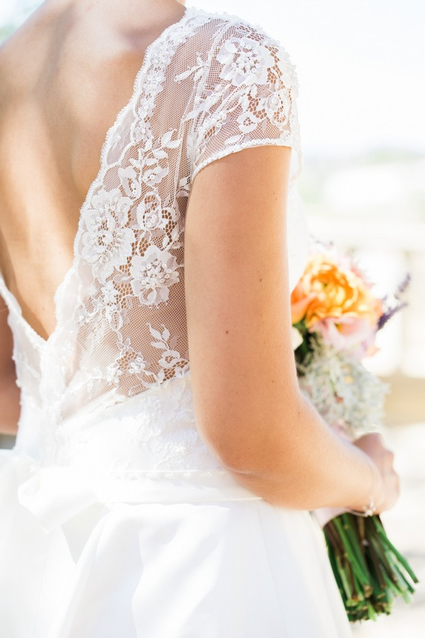 Floral-Lace-V-Back-Wedding-Dress-Summer-Bride