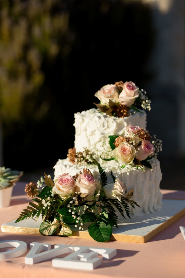 Fresh-Flowers-Wedding-Cake-Topper-Peach-Roses (2)