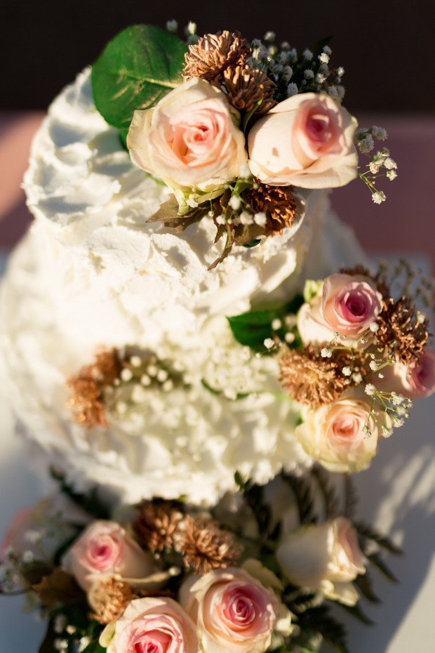 Fresh-Flowers-Wedding-Cake-Topper-Peach-Roses (3)