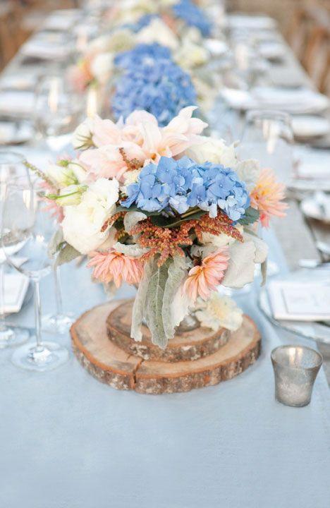 Cornflower Blue Amp Peach A Very Sweet Summer Wedding