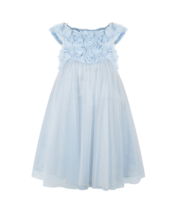 blue-ruffle-3D-floral-flower-girl-dress-from-monsoon