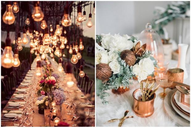Brilliant budget wedding decor from the high street weddingsonline budget wedding decor high street copper theme junglespirit Choice Image