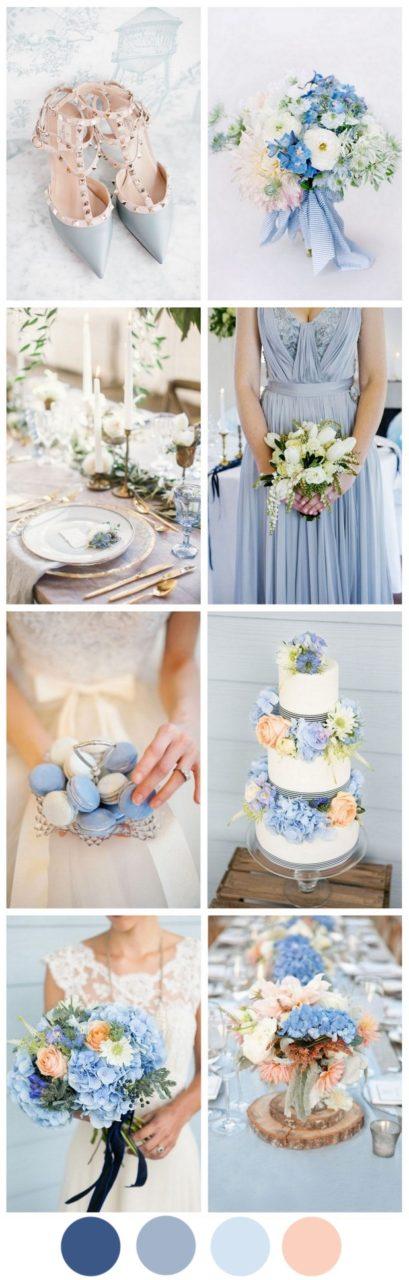 Cornflower Blue & Peach - A Very Sweet Summer Wedding Palette ...