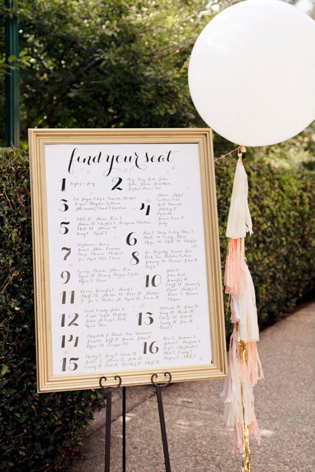 Creative Ways To Display Your Wedding Table Plan  Weddingsonline