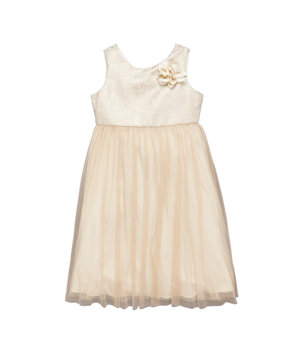 peach-flower-girl-dresses-with-corsage