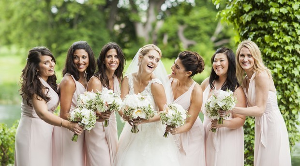 Pink Wedding Dresses Ireland : Bridesmaids dresses as seen on real irish women weddings