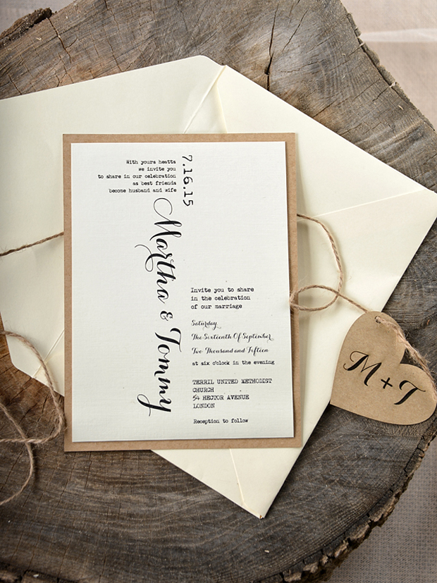 20 Wedding Invitations With Fabulous Fonts