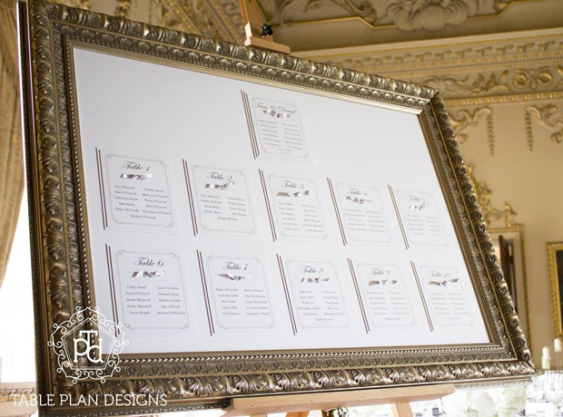 18 creative ways to display your wedding table plan for Table design names