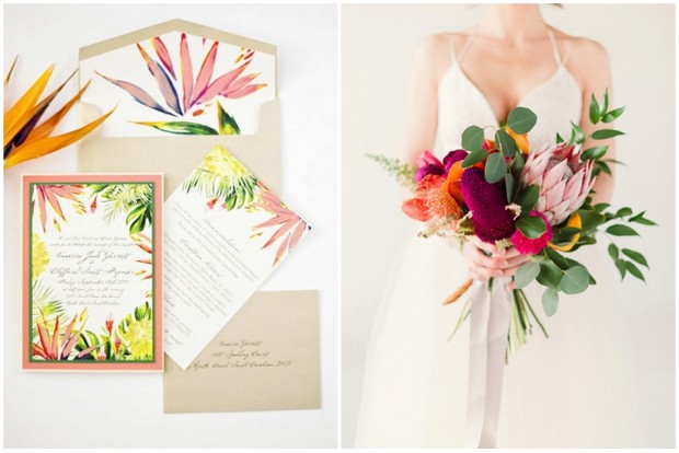 The Most Fun Tropical Wedding Theme You've Ever Seen! | weddingsonline