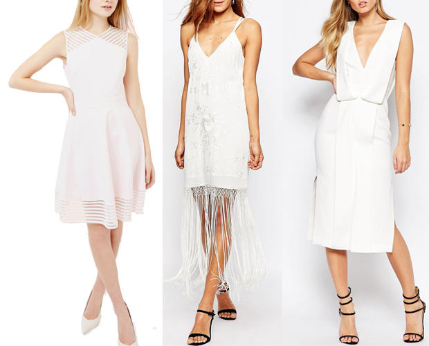White Pink Hen Party Dresses