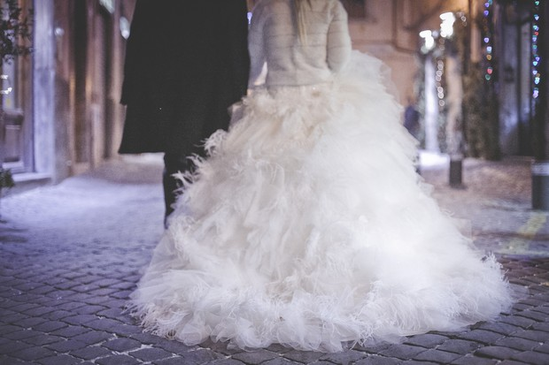 29-fairytale-wedding-dress-ballgown-feather-skirt